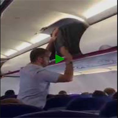 E o cara que tava brigando com o bagageiro do avião pra tentar encaixar sua mala