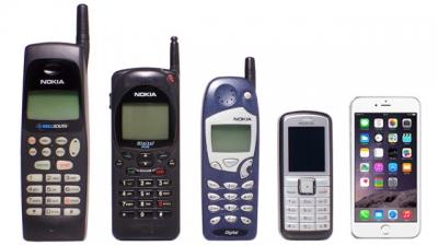Veja a evolução dos celulares nesse vídeo