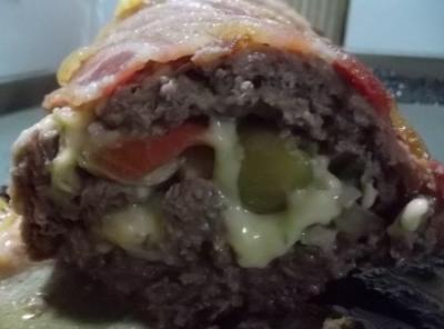 Carne moída com bacon