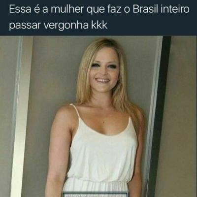 Essa é a mulher que fez a maioria dos Brasileiros passarem vergonha