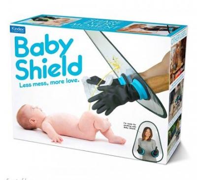 Protetor para manusear bebês