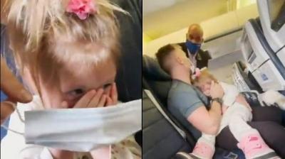 Influencer é expulsa de voo após filha de 2 anos não querer usar máscara
