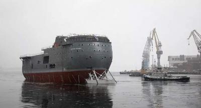 Estação cientifica lançada na semana passada, é apelidado, navio mais feio da Ru