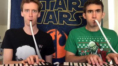 Tocando Star Wars apenas com um teclado