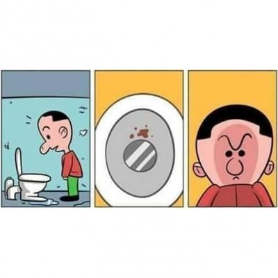 Urinando com a mira perfeita