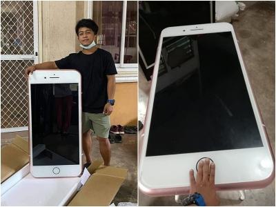 Adolescente compra um iPhone barato online e obtém uma mesa de centro em formato