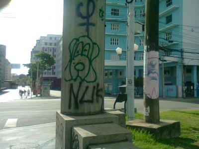 Ponte vítima de vandalismo