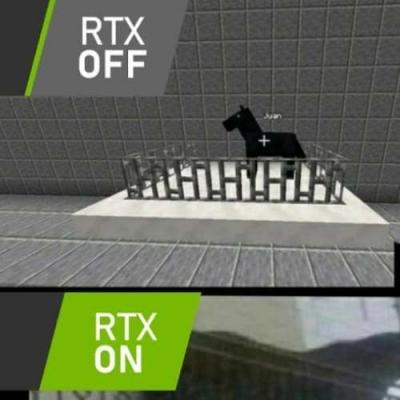 Minecraft com RTX ON/OFF