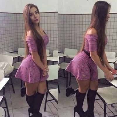 Essa jovem professora tem uma dúvida, que para os homens vai ser fácil responder