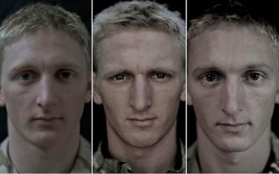 Soldados antes, durante e depois da guerra
