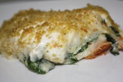 Quiche de bacalhau com espinafre