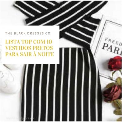 Lista top com 10 vestidos pretos para sair à noite