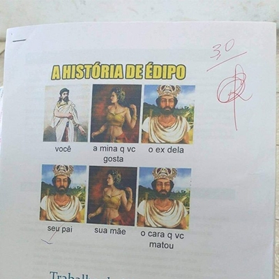 Esse cara achou o melhor jeito de explicar a história de Édipo na escola