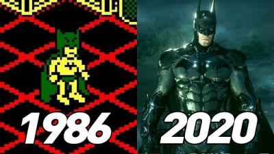 Confira a evolução dos jogos do Batman desde 1986