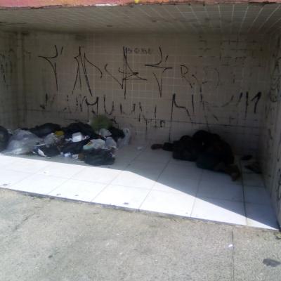 Dormindo no lixo