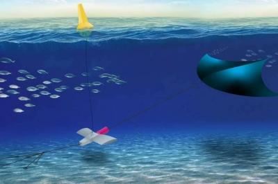 O sistema de pipa subaquática usará energia das marés para gerar eletricidade