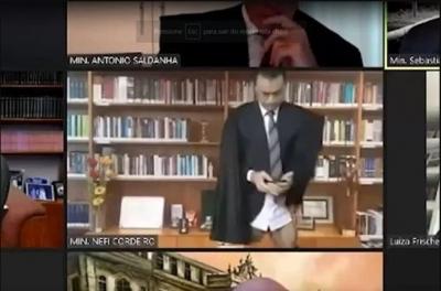 Ministro do STJ aparece sem as calças durante julgamento