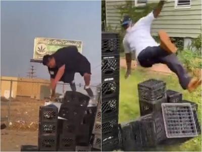 Milk Crate Challenge, o novo desafio viral nas redes sociais