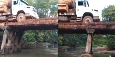 Caminhão Vs Ponte de madeira, quem ganha?