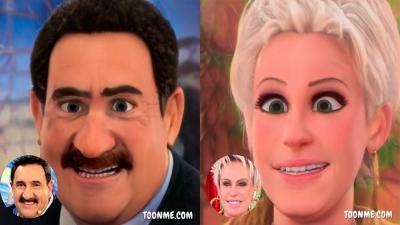 Como seria se os apresentadores fossem personagens da Disney